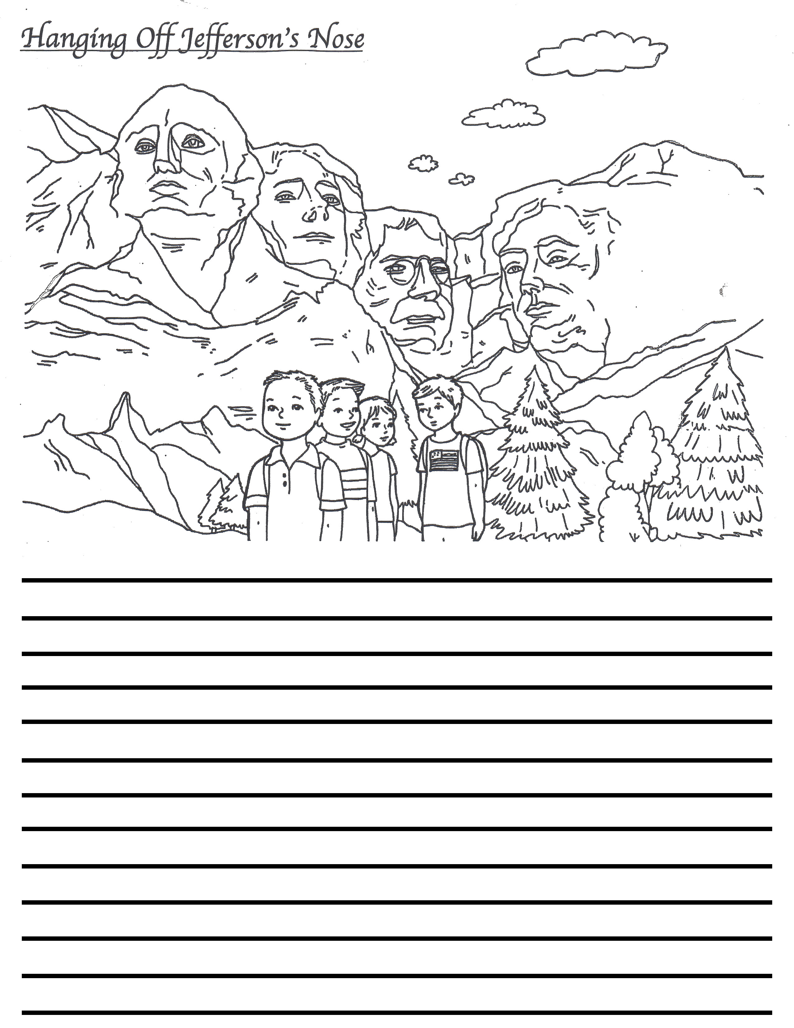 5th Person on Mt.Rushmore Drawing
